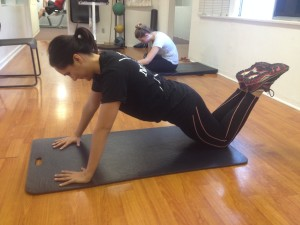 modified push up starting