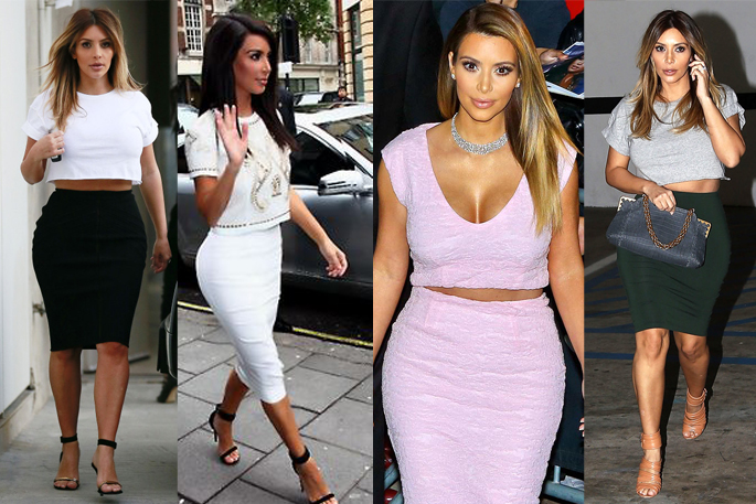Kim Kardashian's Look for Less