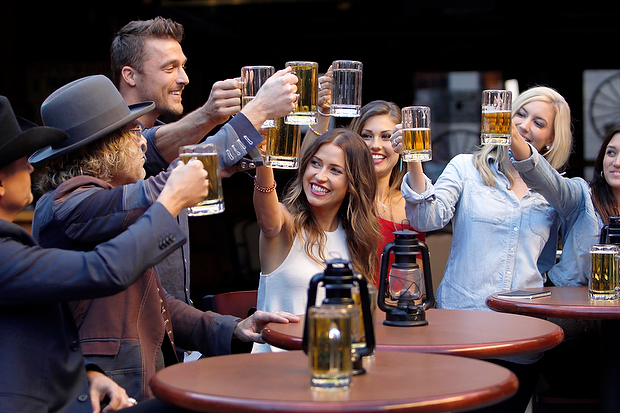 Chris Soules, the girls and Big  & Rich drink up in Deadwood, South Dakota