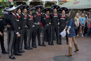 The boys listen to Kaitlyn's mariachi ballad in week 6 of The Bachelorette